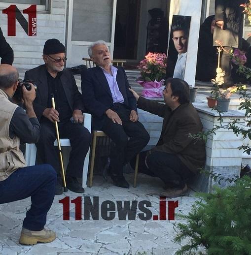 تصویری از پدر اولادی، پس از آنکه خبر مرگ فرزندش را شنید