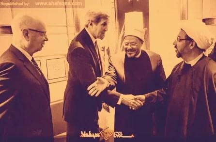 روحانی ایرانی به جان کری چه گفت و چه شنید؟! + تصویر
