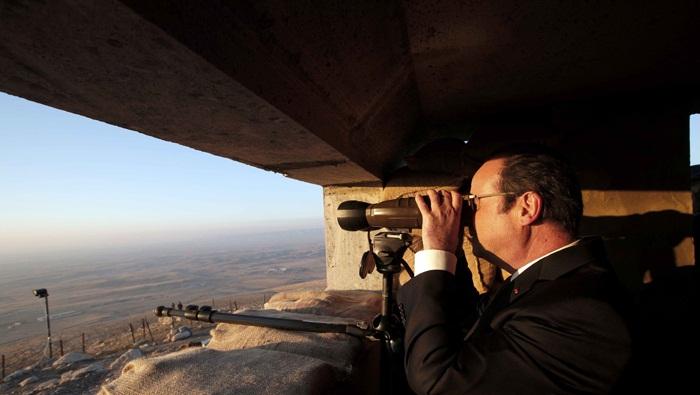 تصاویر : اولاند در جبهه نبرد با داعش در موصل