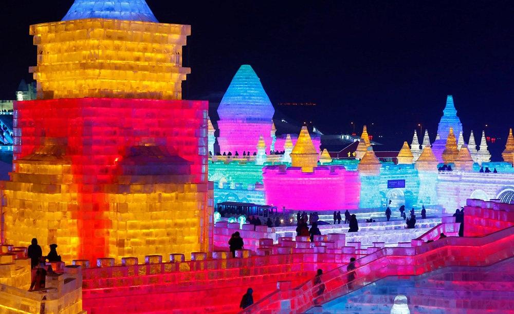 تصاویر : جشنواره برف و یخ هاربین در چین
