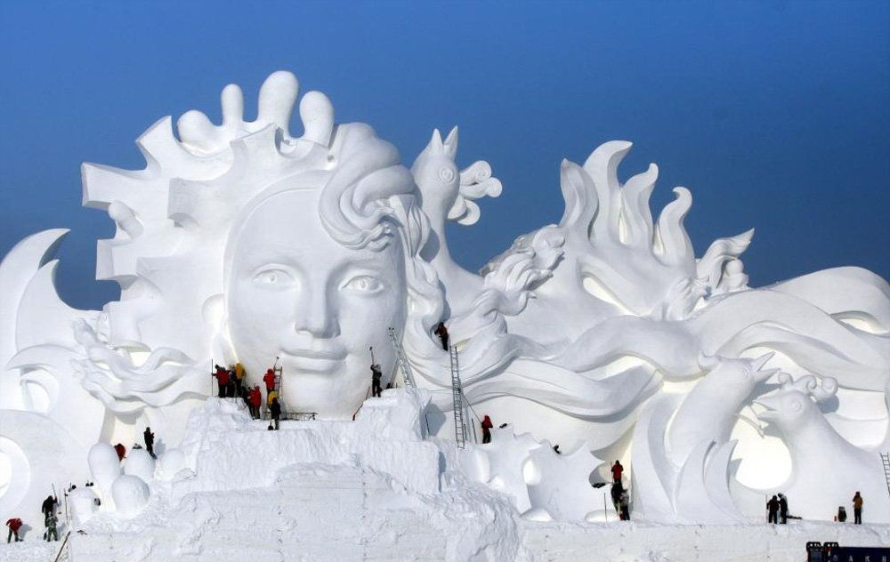 تصاویر : شهر یخی در چین