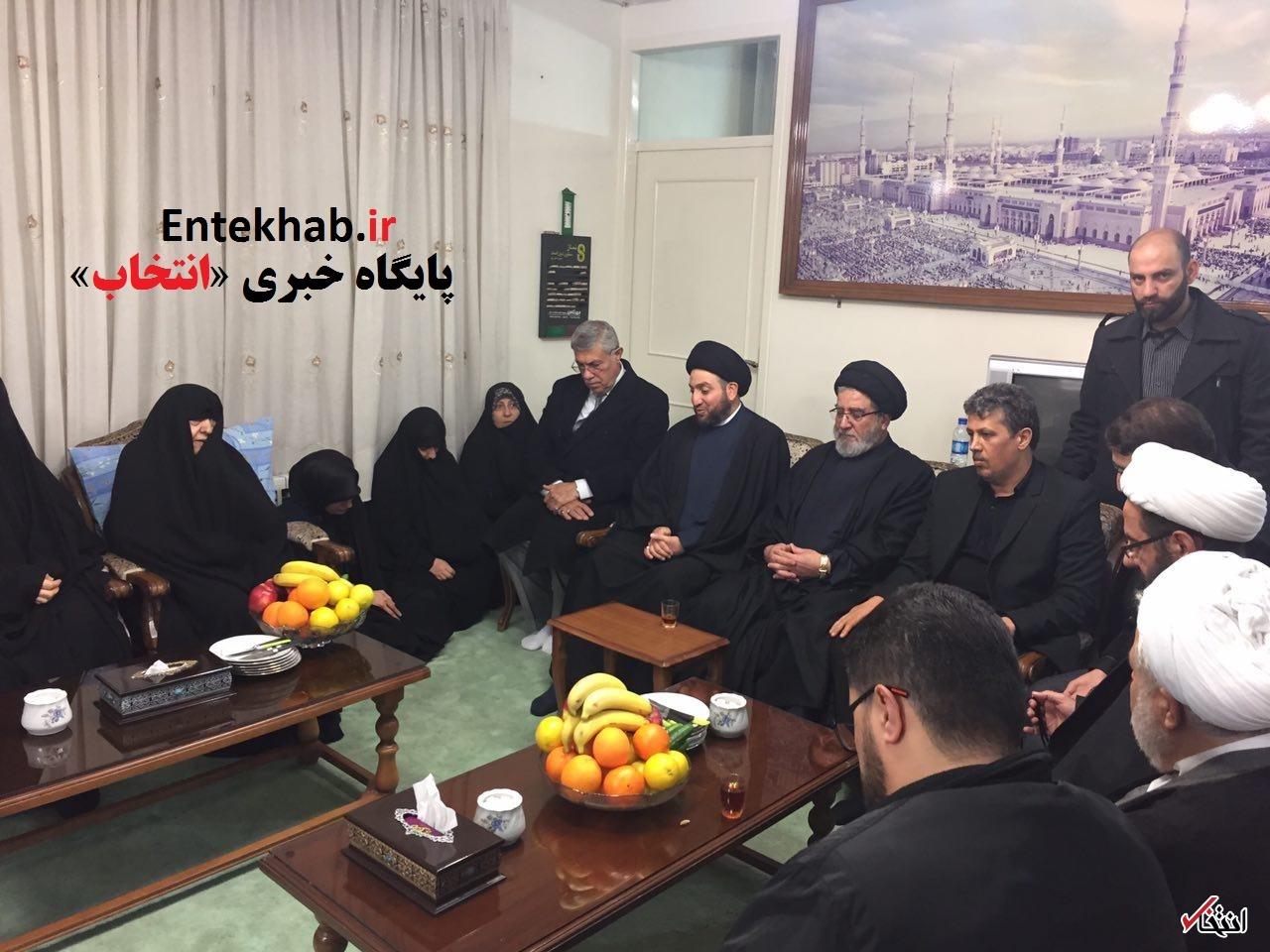 معاون دبیرکل حزب الله و عمار حکیم به بیت آیت الله هاشمی رفتند+تصاویر