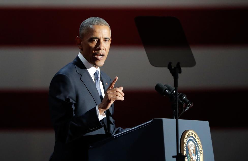 تصاویر : سخنرانی خداحافظیِ اوباما