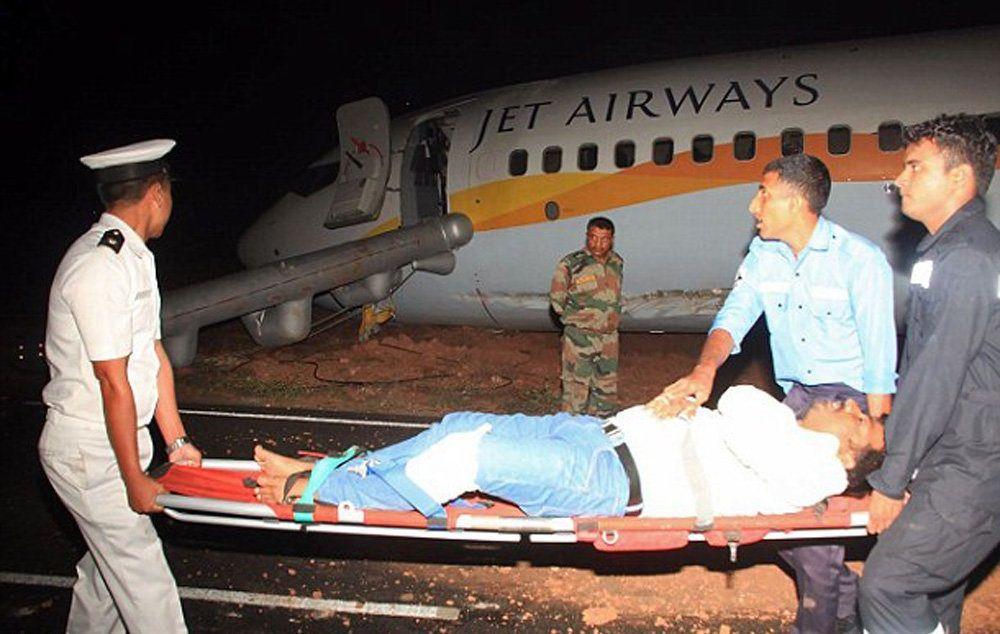 تصاویر : خروج هواپیما از باند در هند