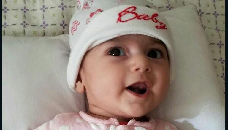 تصاویر/بازماندن دختر بیمار ۴ ماهه ایرانی از عمل جراحی قلب در آمریکا