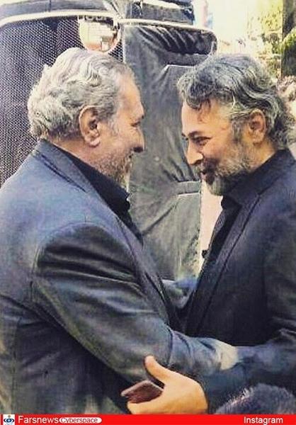 عکس/2 بازیگر مرحوم 45 روز پیش در آغوش هم