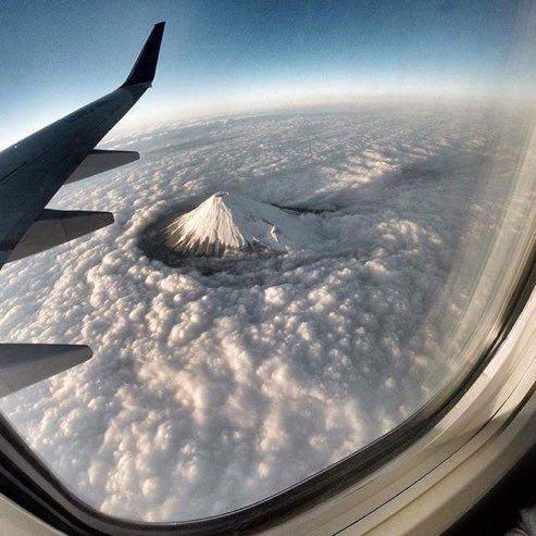 عکس/تصویری خاص از قله دماوند