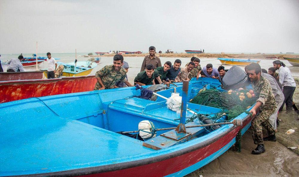تصاویر : طغیان دریا در جنوب استان بوشهر