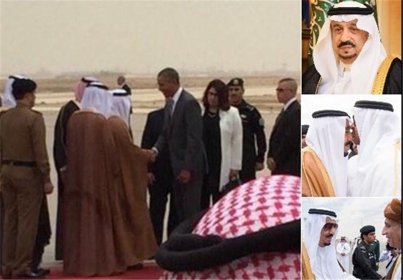 اتفاقی عجیب هنگام ورود اوباما به عربستان+ عکس