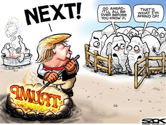 کاریکاتور/ داغ ترامپ!