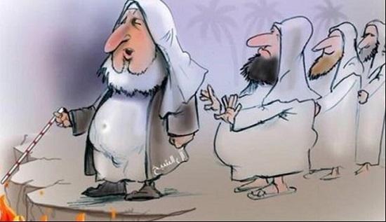 کاریکاتور بیسابقۀ روزنامه اماراتی از مفتی عربستان+عکس