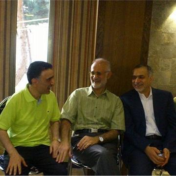 دیدار حسین فریدون و مصطفی معین با تاج زاده+عکس