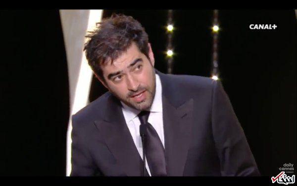 شهاب حسینی بهترین بازیگر جشنواره کن شد /  این جایزه را تقدیم به مردم سرزمینم میکنم