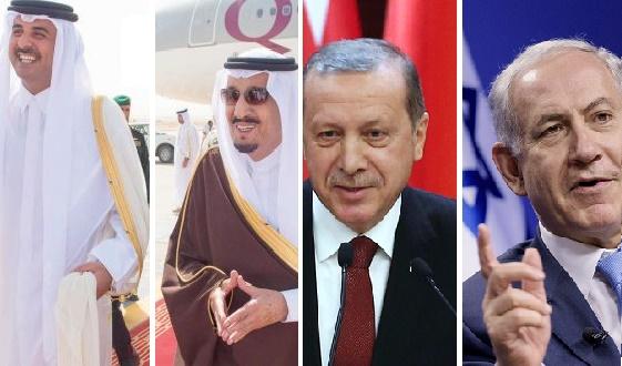 ائتلاف ترکیه، اسرائیل، قطر و عربستان سعودی علیه ایران