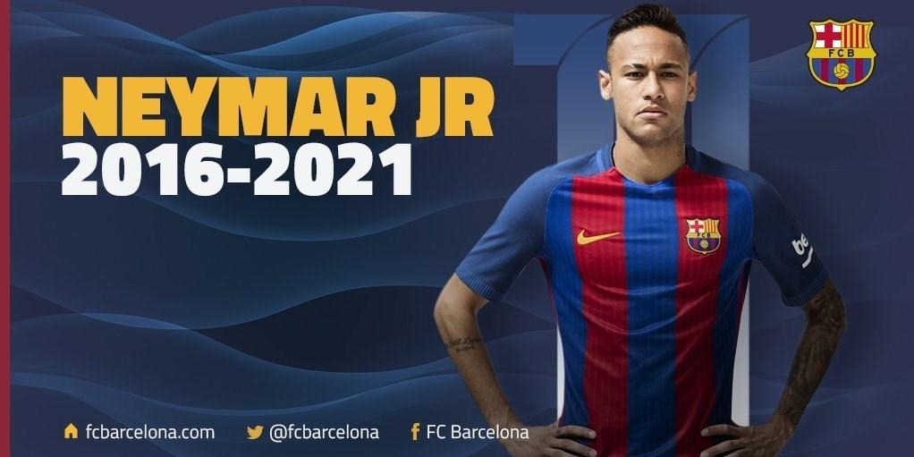 نیمار رسماً قراردادش را با بارسلونا تمدید کرد + تصویر