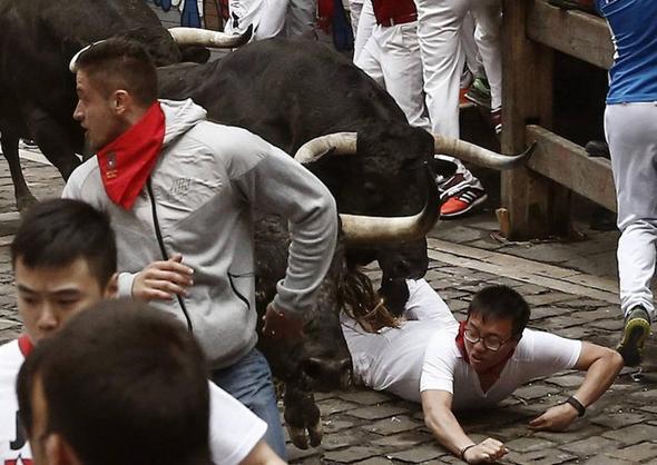تصاویر : فستیوال خونین گاوبازی در اسپانیا