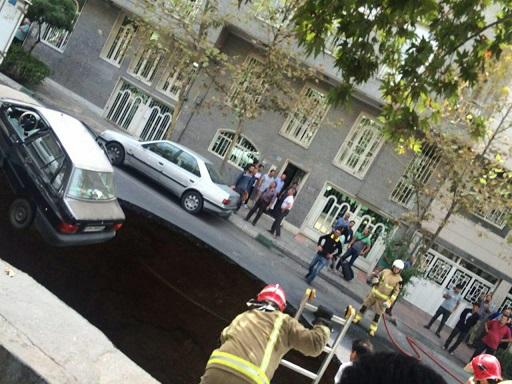 اولین تصاویر از حادثه ریزش تونل در تهران