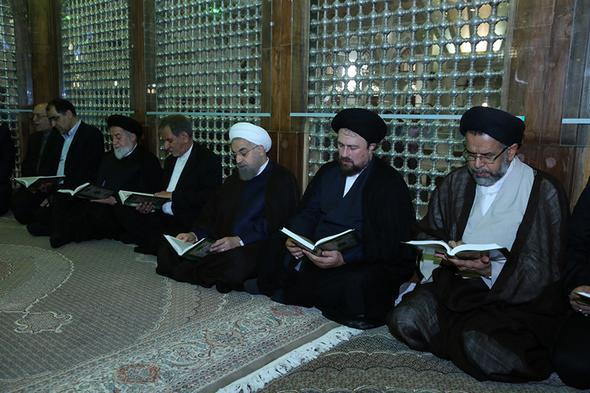 تصاویر : تجدید میثاق هیات دولت با آرمانهای امام(ره)