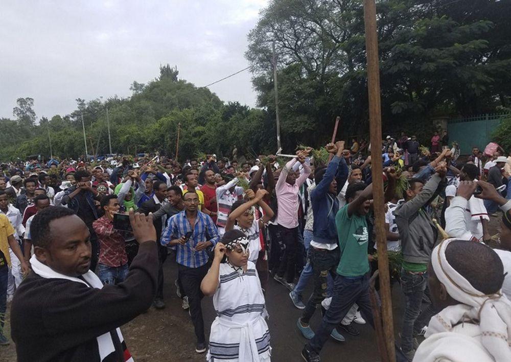تصاویر : اعتراض در آدیس آبابا با مرگ 50 معترض