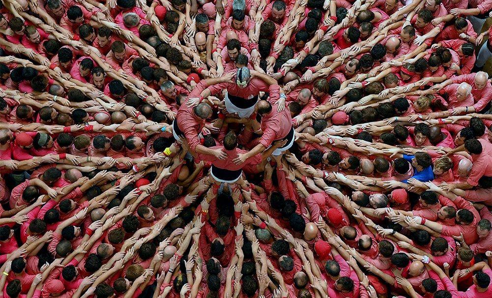 تصاویر : مسابقه برجهای انسانی در اسپانیا