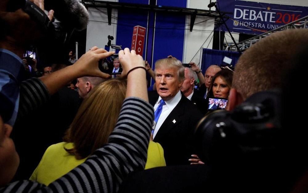 تصاویر : اولین مناظره هیلاری کلینتون و دونالد ترامپ