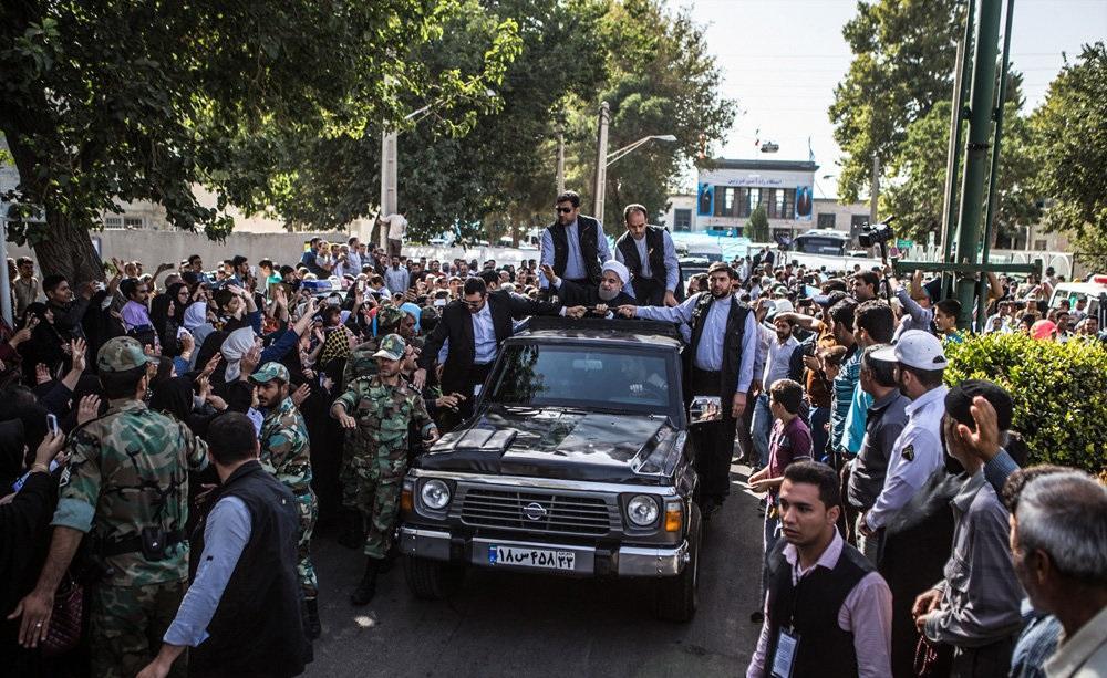 تصاویر : سفر رئیس جمهور به قزوین