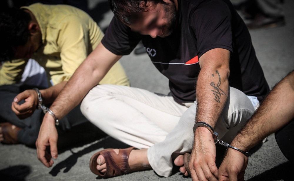 تصاویر : دستگیری 100 سارق سابقه دار در تهران