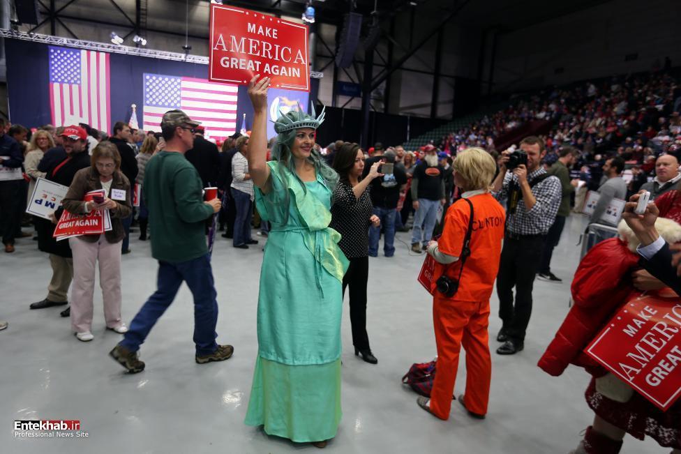 تصاویر / تب و تاب انتخاباتی کلینتون در هشت روز به انتخابات