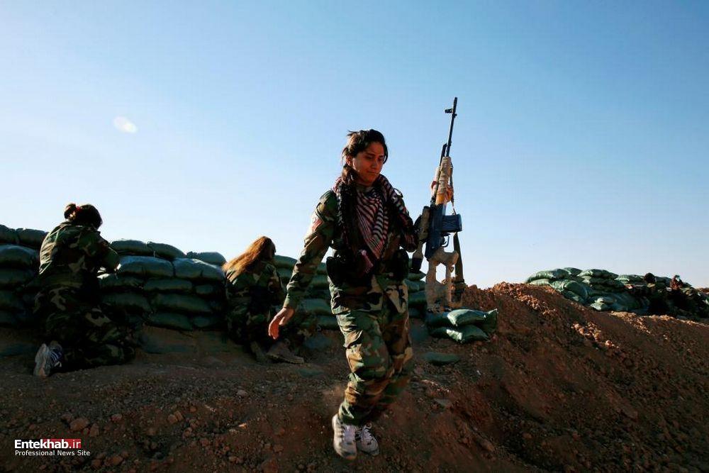 تصاویر : مبارزه زنان کرد با داعش در خط مقدم