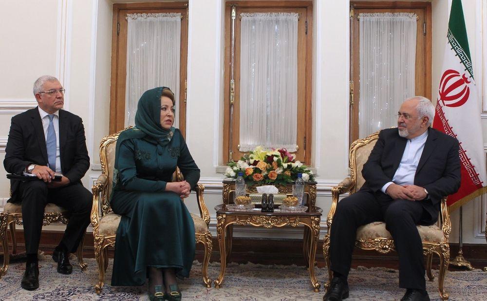 تصاویر : دیدار رئیس شورای فدراسیون روسیه با ظریف