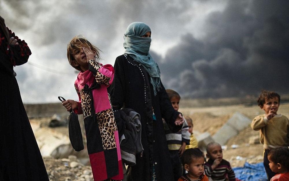 تصاویر : زنان آواره در اطراف موصل