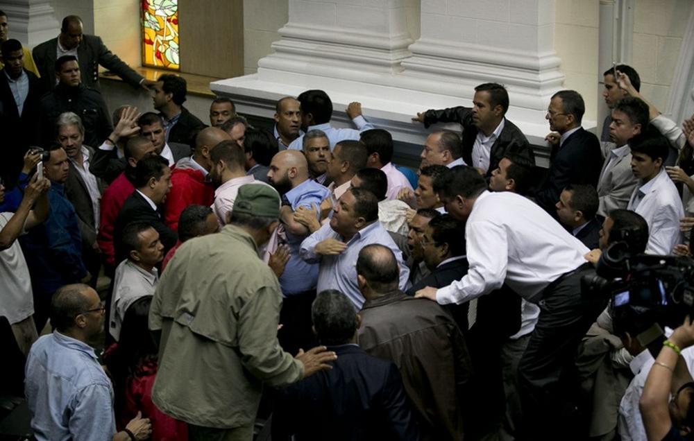 تصاویر : درگیری در پارلمان ونزوئلا
