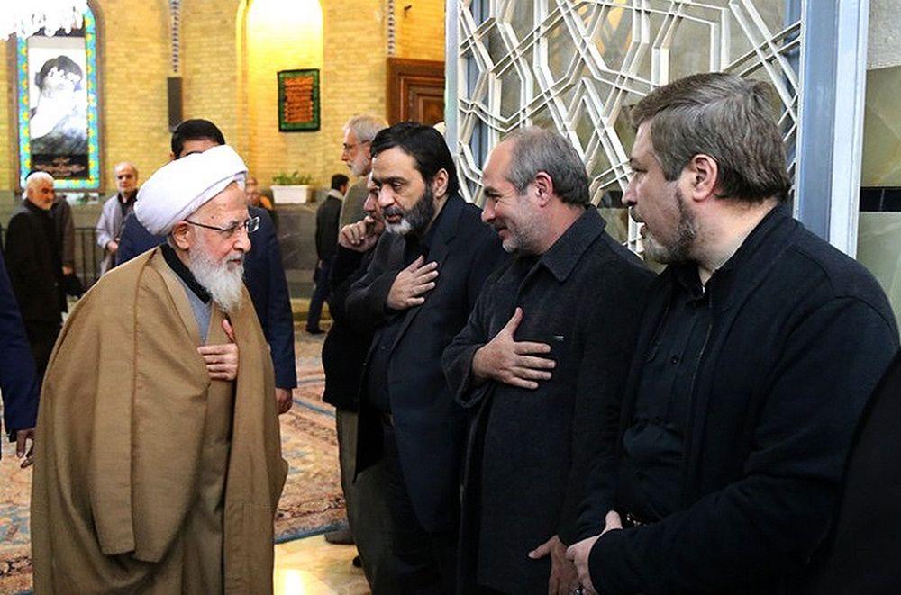 تصاویر : مراسم ختم هفتمین روز درگذشت آیت الله موسوی اردبیلی