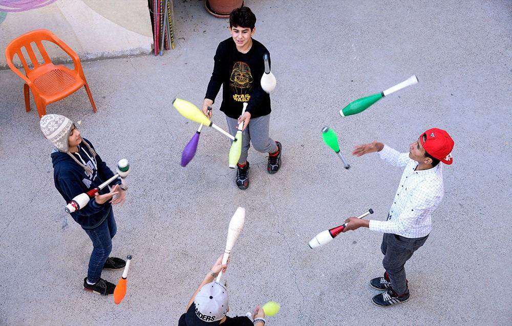تصاویر : آوارگان سوری در سیرک های ترکیه