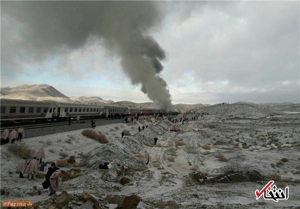 5 کشته و 11 مصدوم در حادثه برخورد دو قطار در سمنان+تصاویر
