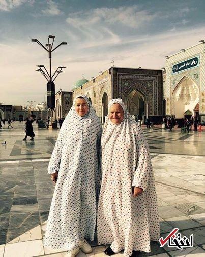 حضور ثروتمندترین زن روسیه در حرم امام رضا(ع)+عکس