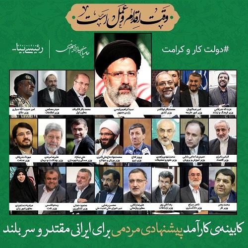 کابینه پیشنهادی یک کمپین تلگرامی برای ابراهیم رئیسی /جدال بین هواداران بالا گرفت