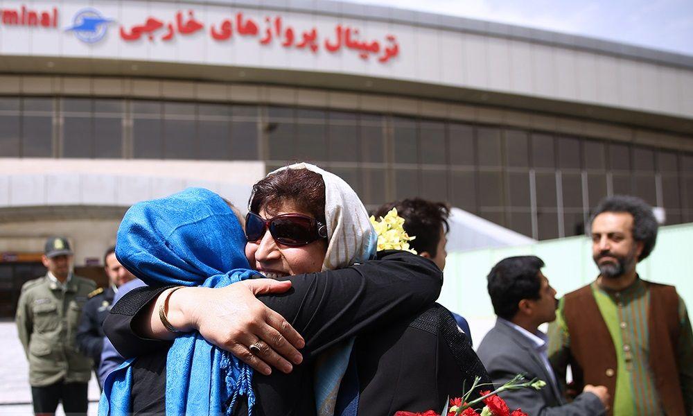 تصاویر : ورود نرگس کلباسی به ایران