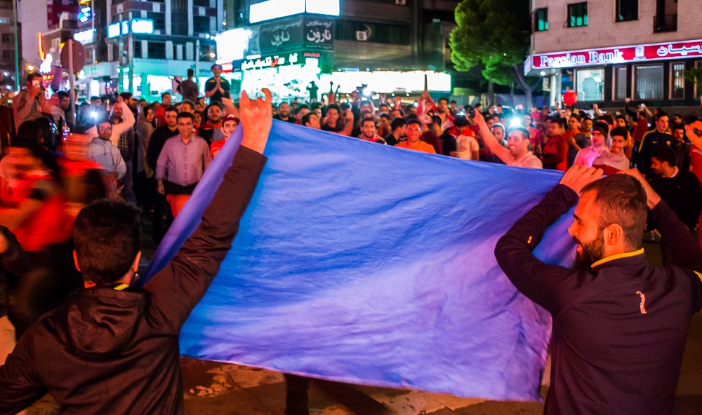 تصاویر : شادی هواداران پرسپولیس در خیابان های تهران