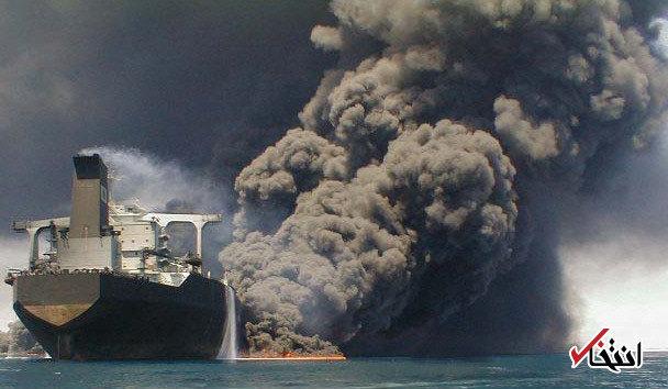 توضیحات سرکنسول ایران در شانگهای در مورد کندی عملیات اطفای حریق نفتکش ایرانی: یک لکه نفتی 1000 متری اطراف کشتی را فراگرفته