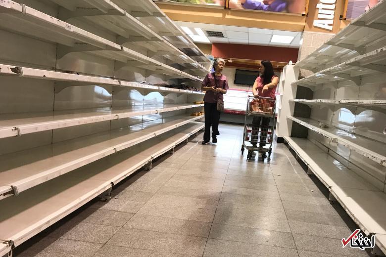 تصاویر : غارت فروشگاهها در تورم ۲۶۰۰ درصدی ونزوئلا