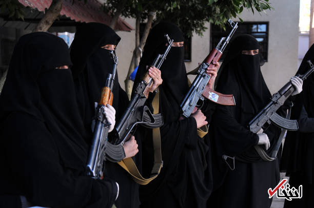 تصاویر : تظاهرات مسلحانه زنان یمنی