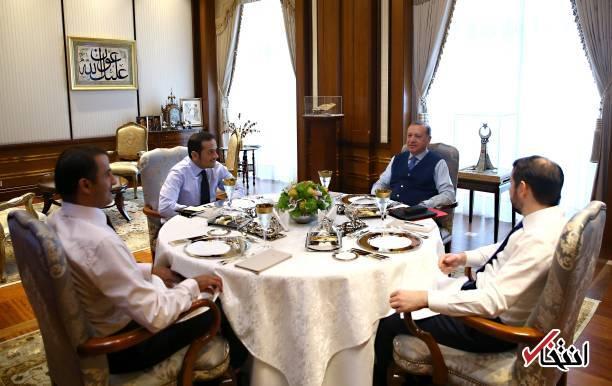 عکس/ دیدار اردوغان با امیر قطر