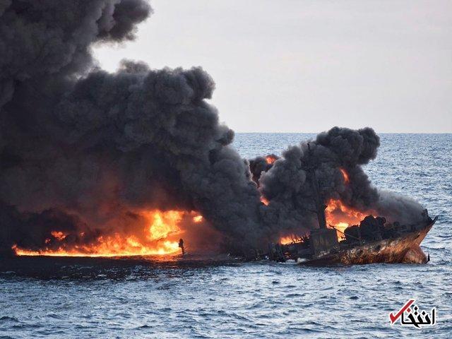 شناسایی دو لکه نفتی از سانحه سانچی / ژاپن لکه نفتی به سواحل ما نمی رسد