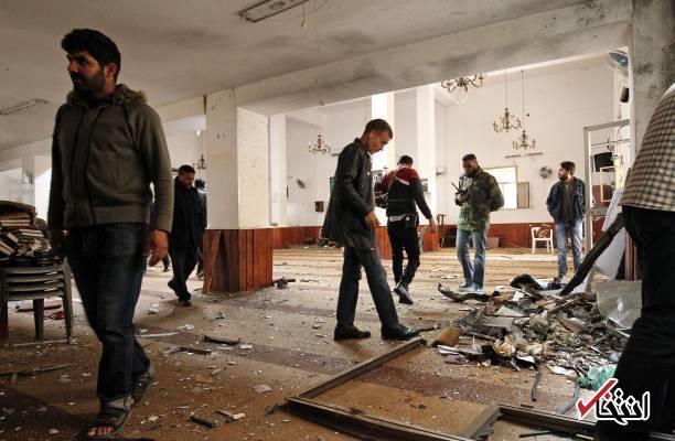 عکس/ انفجار در مسجدی در شهر بنغازی لیبی