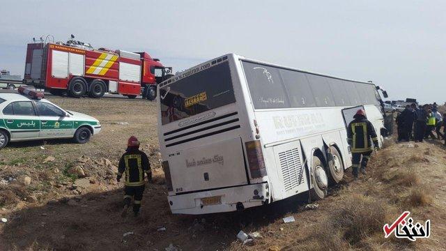 بیست مصدوم حادثه واژگونی اتوبوس مهارلو از بیمارستان ترخیص شدند