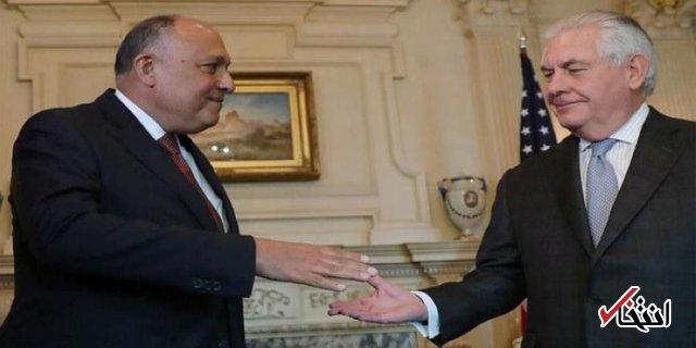 تیلرسون در دیدار با همتای مصری اش: شکافی در روابط دو کشور وجود ندارد