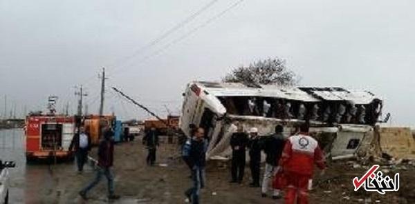 انتقال هوایی 33 مصدوم حادثه واژگونی اتوبوس «طبس - فردوس» به گچساران