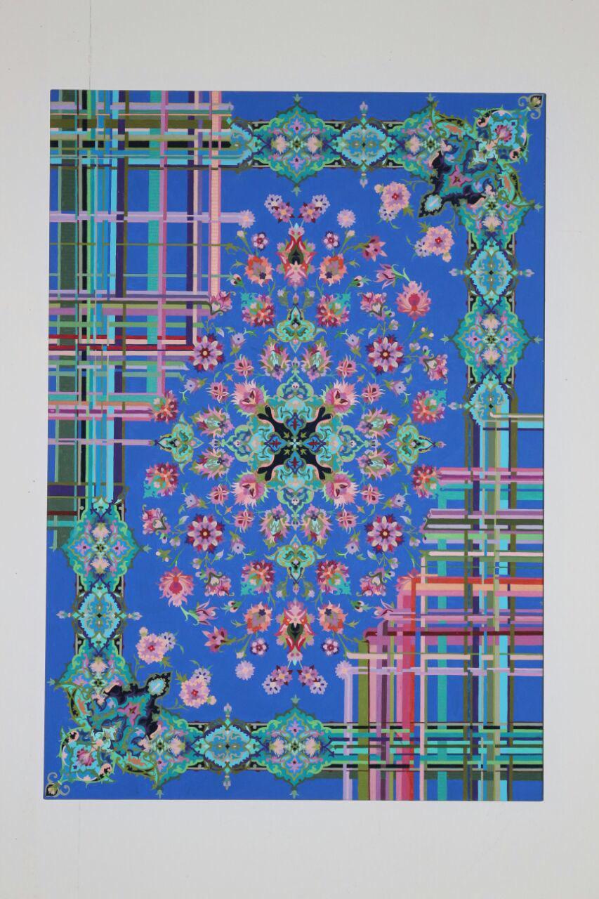 وقتی ترکیب طرح فرش ایرانی و نقاشی، ایتالیایی ها را مجذوب می کند