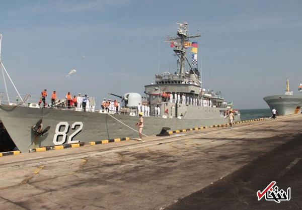 ناوگروه ۵۰ نیروی دریایی ارتش در سریلانکا پهلو گرفت